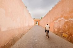 """""""Exiting the Marrakesh Medina. (29x21cm)"""" by Tom Hanslien. Colour photograph (giclée) on Paper, Subject: Architecture and cityscapes, Graphic style, From a limited edition of 200, Signed and numbered on the front, This artwork is sold unframed, Size: 29.7 x 21 x 0.1 cm (unframed), 11.69 x 8.27 x 0.04 in (unframed), Materials: Hahnemuhle Pearl - 285 gsm. semi-gloss finish."""