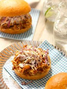 Pulled BBQ Chicken Sandwiches with Classic Southern Slaw
