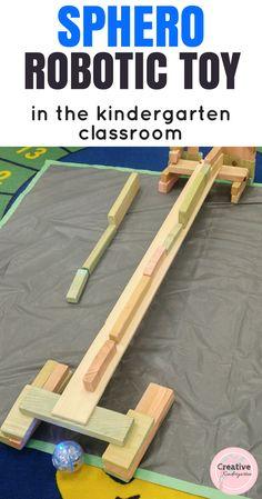 Sphero robotic toy in the kindergarten classroom. activities to use with your students