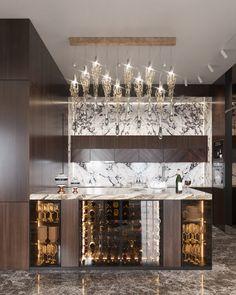 Kitchen Room Design, Modern Kitchen Design, Interior Design Kitchen, Luxury Home Decor, Luxury Interior Design, Luxury Homes, Modern Home Bar Designs, Luxury Bar, Cuisines Design