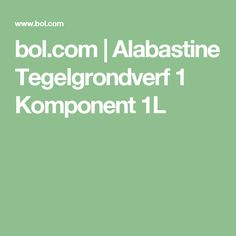 bol.com | Alabastine Tegelgrondverf 1 Komponent 1L