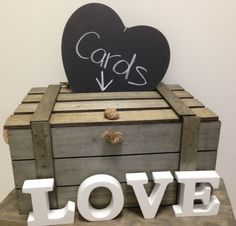 New Large Wooden Wood Shabby Beach Vintage Wedding Wishing Well Box Chest