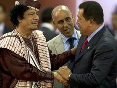 Hugo Chavez and friend Gadaffi