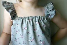 25 Easy Summer Play Clothes to Sew Ruffle sleeve tops