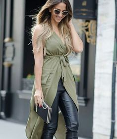Khaki &leather