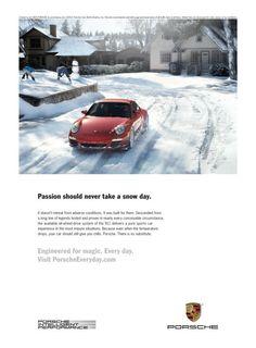 911 Snow classic automobil, automobil ad