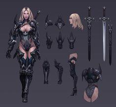 ArtStation - demonic knight, Seok Jeon