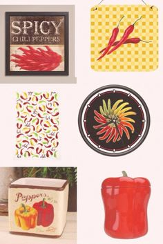 Chili Pepper Kitchen Accessories. Chili themed kitchen decor ideas to make your kitchen decor pop! #kitchenthemes