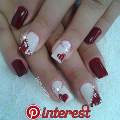 In search for some nail designs and some ideas for your nails? Listed here is our listing of must-try coffin acrylic nails for cool women. Heart Nail Designs, Valentine's Day Nail Designs, Acrylic Nail Designs, Acrylic Nails, Trendy Nails, Cute Nails, My Nails, Nails Today, Holiday Nails