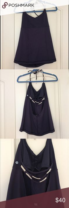 Lululemon Backless Top Adorable lululemon top perfect for running! Breathable fabric and in great condition. Willing to negotiate! lululemon athletica Tops