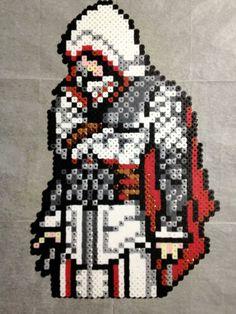 Ezio Auditore perler bead sprite