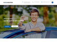 Rochester – Driving School Free HTML Template suitable for all types of Driving Schools. That Includes totally 17 Pages. Impress your potential clients with this template design!