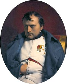 """Napoleon at Fontainebleau, 31 March Hippolyte de la Roche, dit Paul Delaroche French Revolution, American Revolution, Paul Delaroche, Adele, First French Empire, Empress Josephine, Royal King, Fontainebleau, French History"