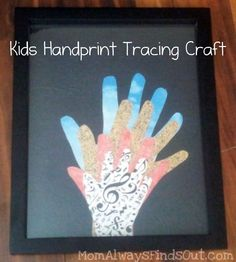 Kids Handprint #craft gift idea for Mother's Day, Father's Day, Grandparents Day via momalwaysfindsout.com