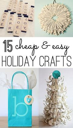 fifteen pretty (and cheap) Christmas ideas