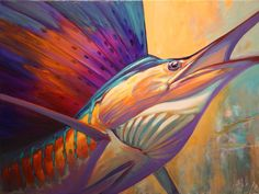 Savlen Studios - Sailfish Sport Fishing Art Print - Rising Son , $79.99 (http://www.savlenstudios.com/sailfish-sport-fishing-art-print-rising-son/)