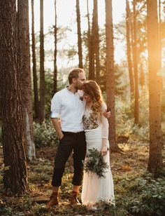 Bohemian Czech Wedding in the woods