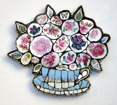 Anna Tilson hand made vintage crockery mosaics