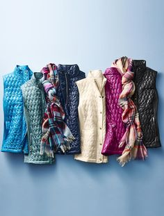 Quilted & Ribbed Vest - Talbots
