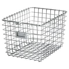 Corral out-the-door essentials in the mudroom or stow fluffy towels in the guest bath with this steel storage basket, featuring an open design and label plat...