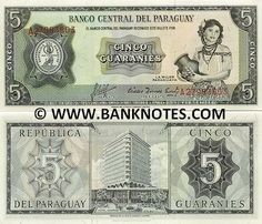 paraguay currency | -1963 - Paraguayan Currency Bank Notes, Paper Money, World Currency ...