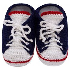 Tênis de Crochê All Star Marinho para Bebê
