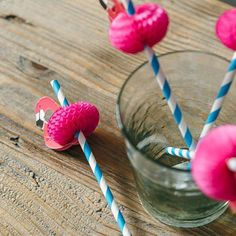 Flamingo Party Drinking Straws Luau Fun Accessory 12 Pk in Home, Furniture & DIY, Celebrations & Occasions, Party Supplies |…