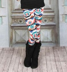 aztec leggings Modern Vintage Boutique