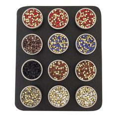 Wholesale Lot of 12 Snap On Interchangeable Jewelry Charm Chunk Buttons Stone Pieces
