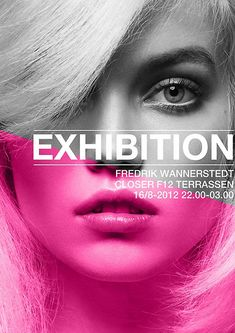 Product design page layouts / Frederik Wannerstedt: Exhibition