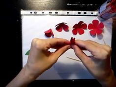 #pirosrózsa7-3 #papír #rózsa #tutorial #videó #diy #oktatóvideó #dísz #ajándék #alkotásmánia