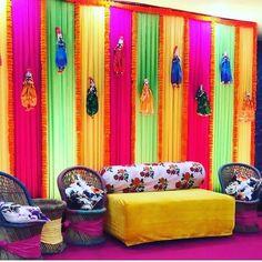Wedding Hall Decorations, Desi Wedding Decor, Diy Wedding Backdrop, Marriage Decoration, Backdrop Decorations, Diwali Decorations, Backdrops, Wedding Blog, Mehendi Decor Ideas
