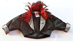Items similar to Black Sparkling Taffeta with Red and Black Feathers Bolero Jacket on Etsy Black Satin, Black Velvet, Bolero Jacket, Black Feathers, My Etsy Shop, Sparkle, Red, Halloween, Outfit
