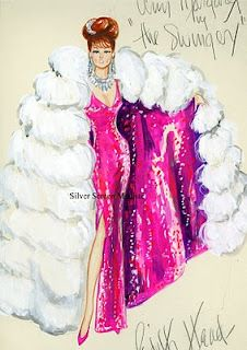 Edith Head Costume Sketch for Ann-Margret in 'The Swinger'. by silverscreenmodiste.com