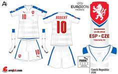 Czech Republic away kit for Euro 2016.