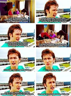 sorry for the little profanity at the end but its pretty funny XD One of my favorite behind-the-scenes scenes from Doctor Who. - My love for David knows no bounds.<<<David Tennant is fabulous Doctor Who, 10th Doctor, Dr Who, Out Of Touch, Don't Blink, Torchwood, Time Lords, David Tennant, Look At You