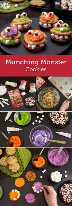 Easy to make and fun to decorate, your little goblins will have a blast creating their own edible monster cookies! You can make the unfrosted cookies ahead; store in airtight container and decorate when your family has time.