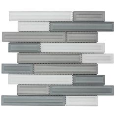 Elida Ceramica Blended Luxor Linear Mosaic Glass Wall Tile