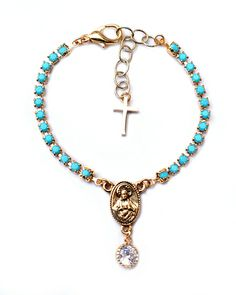 The Turquoise Rosary Bracelet by JewelMint.com, $45.00