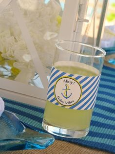 """Photo 9 of 28: Nautical Baby Shower / Baby Shower/Sip & See """"Ahoy, Baby!"""" 