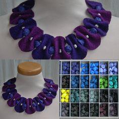 NNVilt jewery: potato beads with felt