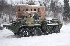 Russian Army units equipped with BTR-82A armored vehicle assault and obstacle clearing the way for engineering troops January 21, 2016