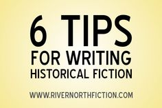 Historical Fiction can be a difficult genre to write for. Here are some useful tips...