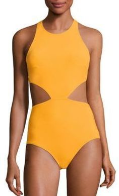 10b8316f44 Cut out one piece available in orange or black. FLAGPOLE Lynn One-Piece  Swimsuit