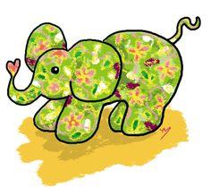 「象」  Happy Elephant