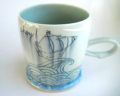 Hey, I found this really awesome Etsy listing at https://www.etsy.com/listing/161298284/made-to-order-ships-ahoy-porcelain-mug