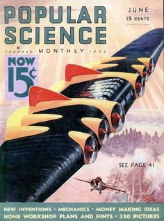 You see this type of vehicle around in a lot of old science fiction magazines, and it's called a Superwing. Interestingly enough, this was not a weird fever dream of artists like Frank R. Paul.