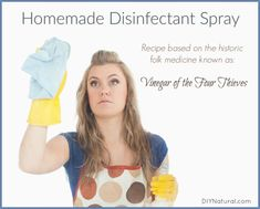 This homemade disinfectant spray is based on the historical folk medicine known as Vinegar of the Four Thieves. Read the history and grab the recipe now!