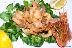 a #dish of #fried #seafood