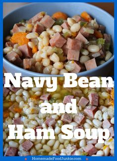 Navy Bean And Ham Soup by HomemadeFoodJunkie.com